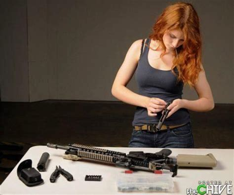Girl Cleaning Gun