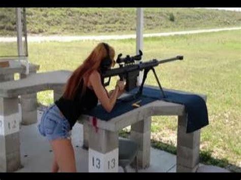 Girl Shooting 50 Cal Rifle