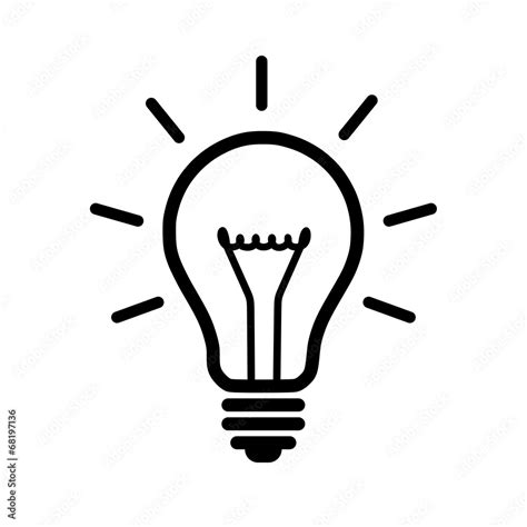 Glühbirne Malvorlage