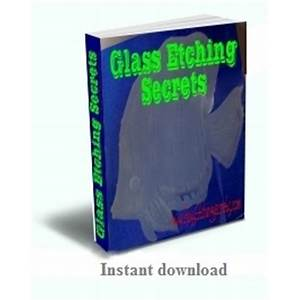 Glass etching secrets book experience
