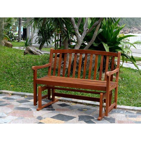 Glider outdoor bench Image