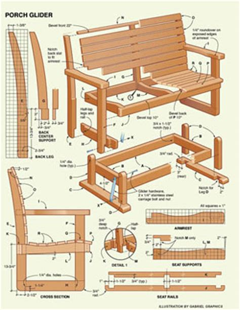 Glider porch swing plans free Image
