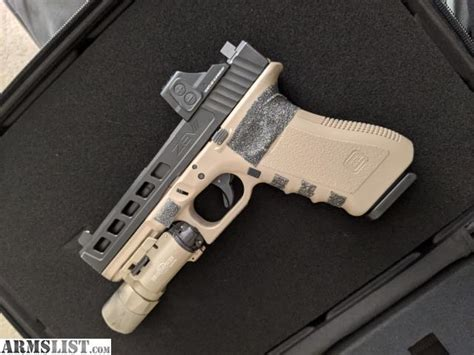 Glock 17 Slide With Red Dot
