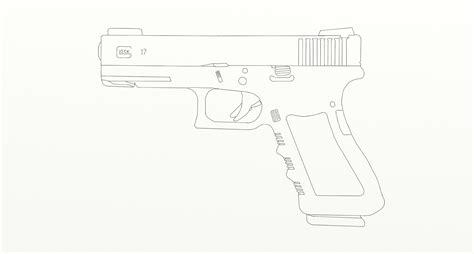 Glock 17 True Size Drawing