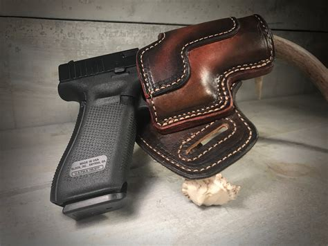 Glock 19 Leather Duty Holster