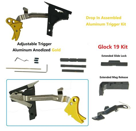 Glock 19 Lower Parts Kit With Flat Trigger