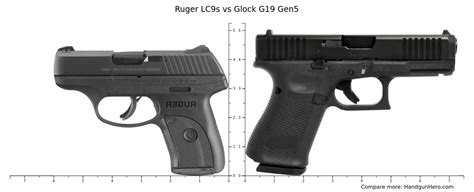 Glock 19 Size Comparison To Ruger Lc9s