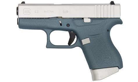 Glock 43 9mm Single Stack Pistol With Blue Cerakote Finish