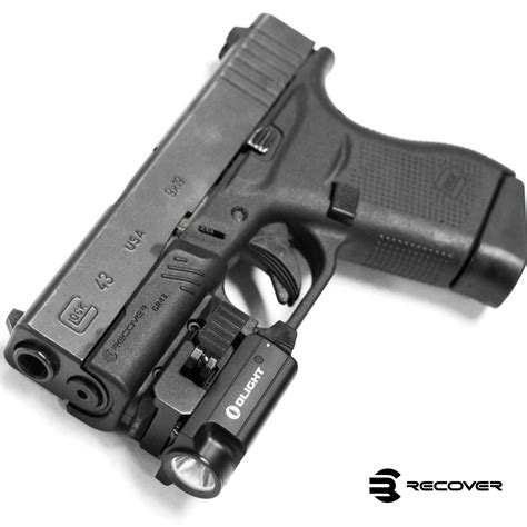 Glock 43 With Holster Picatinny Rail