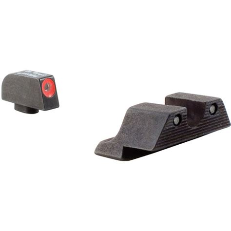 Glock HD Night Sight Set With Orange Front Outline By