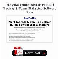 Goal profits betfair football trading & team statistics software inexpensive