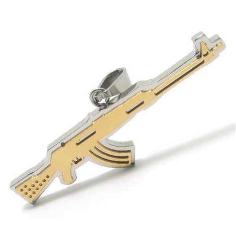 Gold Tommy Gun Pendant