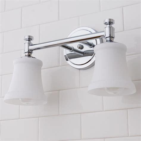 Goodner 2-Light Glass Shade Vanity Light
