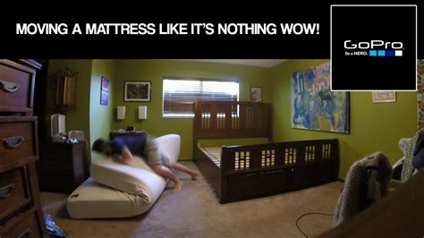 Gopro moving a king size mattress and frameby myself Image