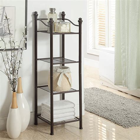 "Gracia 13"" W x 42.9"" H Bathroom Shelf"