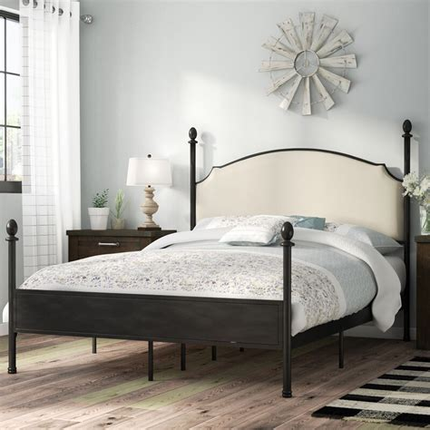 Granite Range Upholstered Four Poster Bed