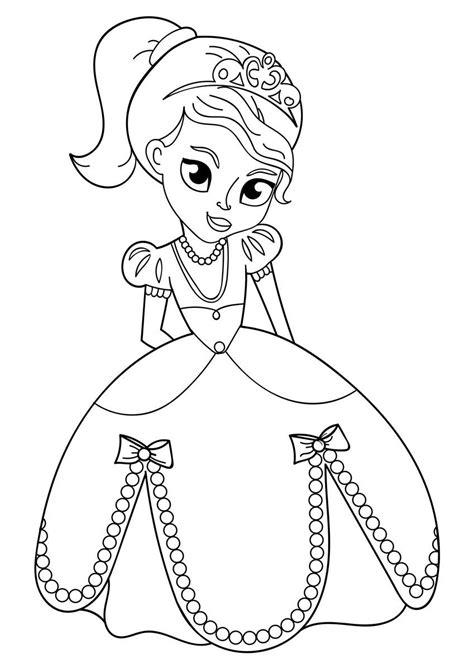 Gratis Ausmalbilder Zum Ausdrucken Prinzessin