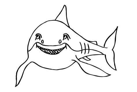 Gratis Malvorlage Haifisch