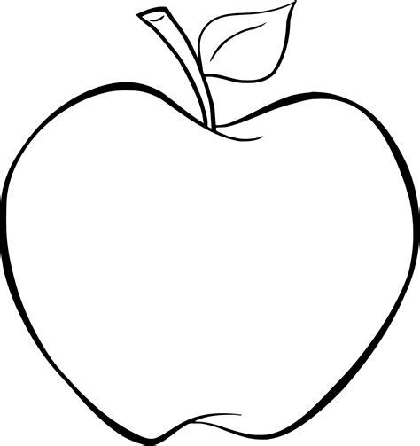 Gratis Malvorlagen Apfel