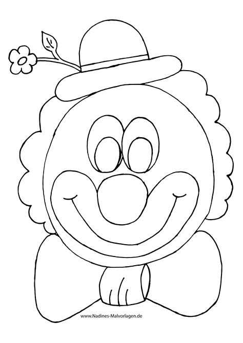 Gratis Malvorlagen Clown