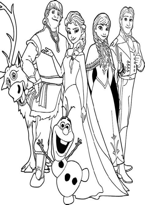 Gratis Malvorlagen Disney Eiskönigin