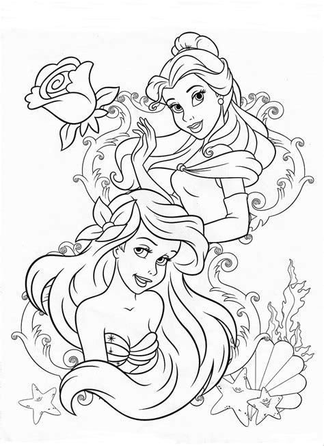Gratis Malvorlagen Disney Prinzessinnen