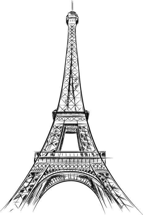 Gratis Malvorlagen Eiffelturm