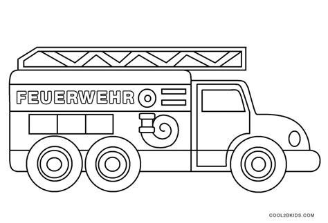 Gratis Malvorlagen Feuerwehrauto
