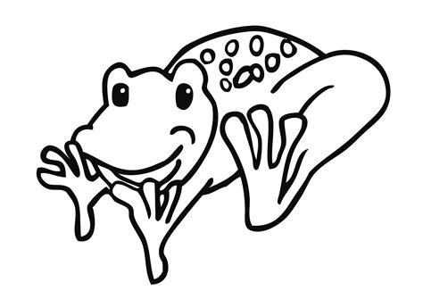 Gratis Malvorlagen Frosch
