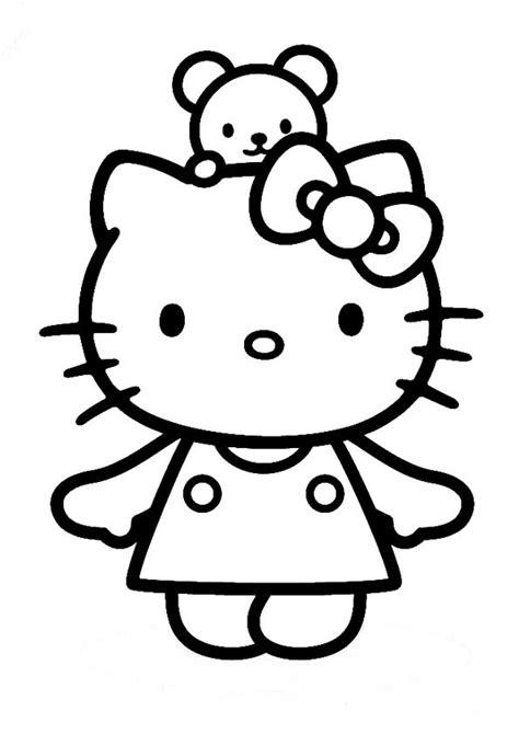 Gratis Malvorlagen Hello Kitty