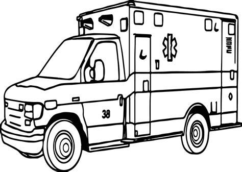 Gratis Malvorlagen Krankenwagen