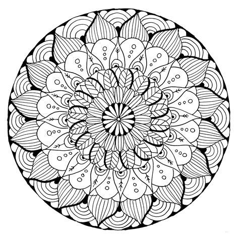Gratis Malvorlagen Mandala
