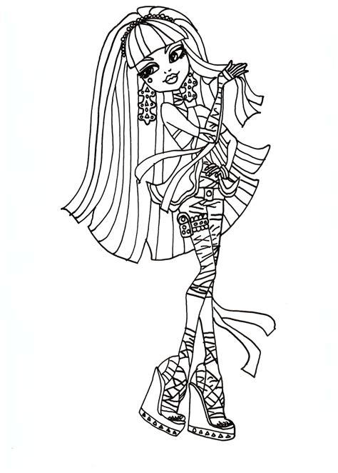 Gratis Malvorlagen Monster High