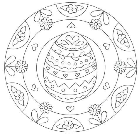 Gratis Malvorlagen Ostern Mandala