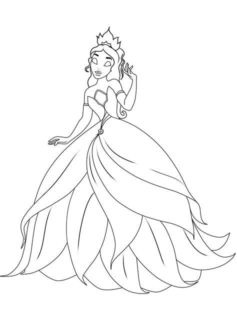 Gratis Malvorlagen Prinzessin