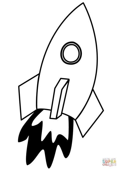 Gratis Malvorlagen Raketen