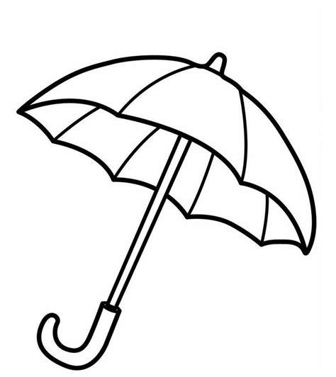 Gratis Malvorlagen Regenschirm Für Kinder