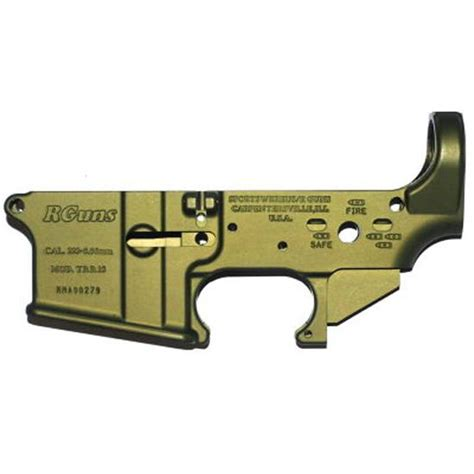 Green Ar15 Anodized Lower Receiver