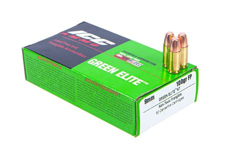 Green Top 9mm Ammo