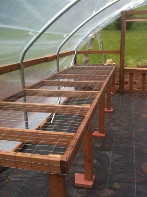 Greenhouse bench plans Image
