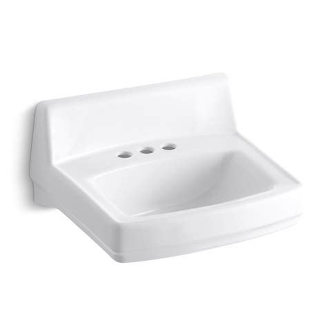"Greenwich Ceramic 21"" Wall Mount Bathroom Sink with Overflow"