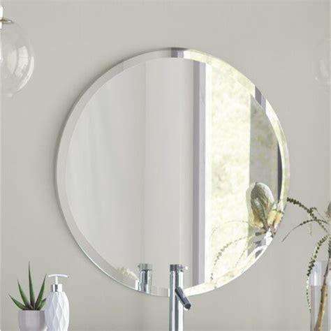 Greyson Frameless Round Wall Mirror