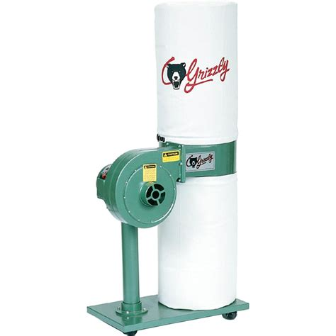 grizzly 1 hp dust collector pdf manual