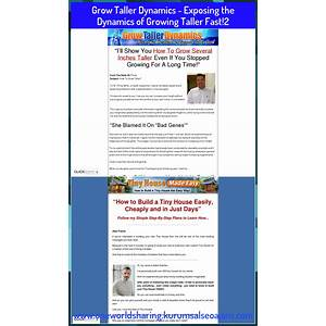 Grow taller dynamics? exposing the dynamics of growing taller fast! step by step