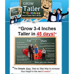 Grow taller for dummies? how to grow taller & how to increase height in the next 45 days coupon code