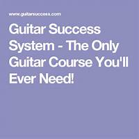 Guitar success system the only guitar course you'll ever need! free tutorials