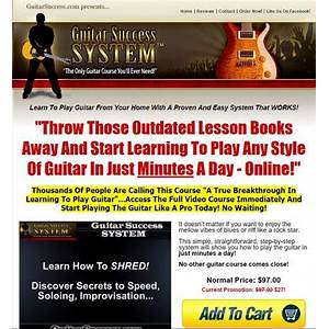Guitar success system the only guitar course you'll ever need! secret code