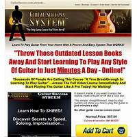 Guitar success system the only guitar course you'll ever need! bonus