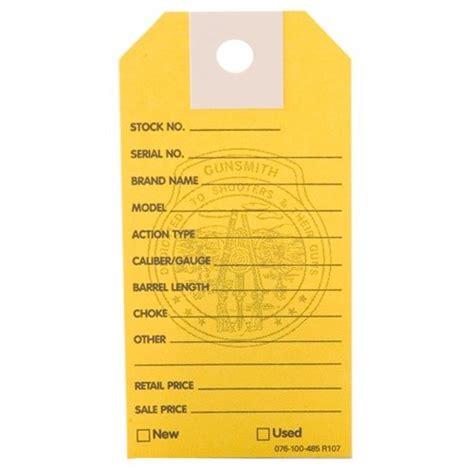 Gun Price Tags 1000 Brownells Gun Price Tags Yellow