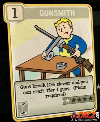 Gunsmith Perk Fallout 76